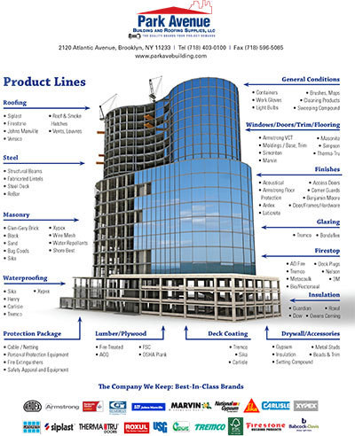 park avenue building and roofing supplies llc our recent ad caign